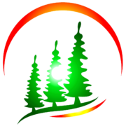 Peaceful Pines Evergreen Logo